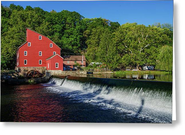 Clinton New Jersey - The Red Mill Greeting Card by Bill Cannon