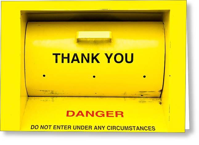 Humanitarian Greeting Cards - Clothing bank Greeting Card by Tom Gowanlock