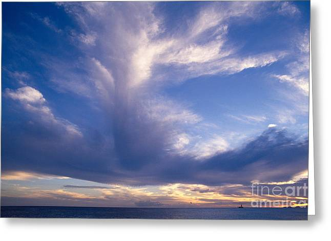 Colorful Cloud Formations Greeting Cards - Cloud Formations Greeting Card by Mary Van de Ven - Printscapes