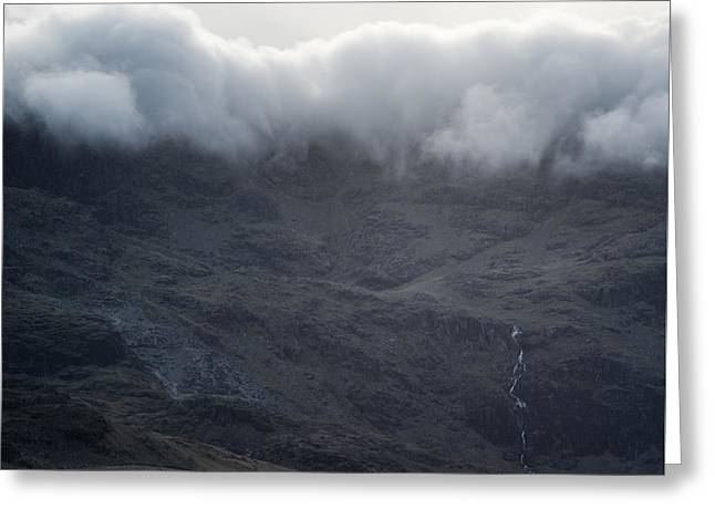 Inversion Greeting Cards - Cloud inversion landscape Old Man of Coniston with forest in for Greeting Card by Matthew Gibson