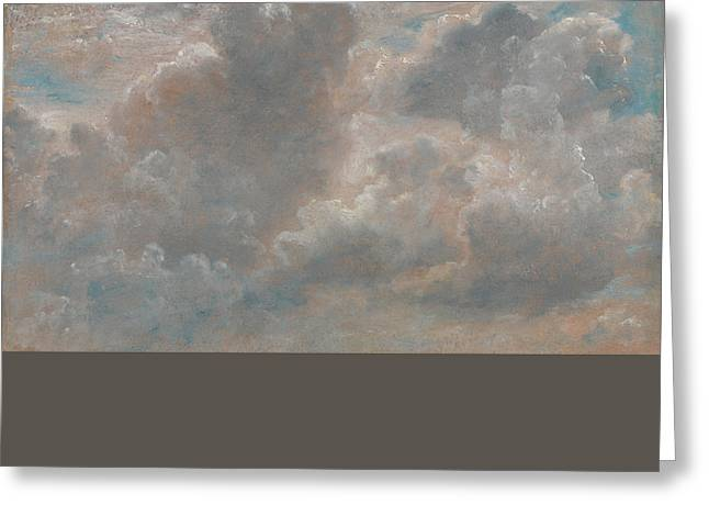 Stormy Weather Greeting Cards - Cloud Study Greeting Card by John Constable