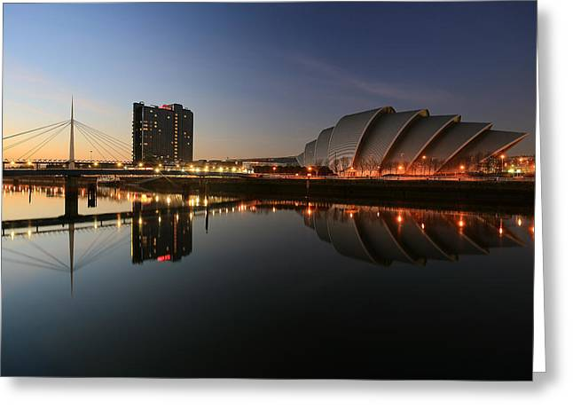 Best Images Greeting Cards - Clydeside Reflections  Greeting Card by Grant Glendinning