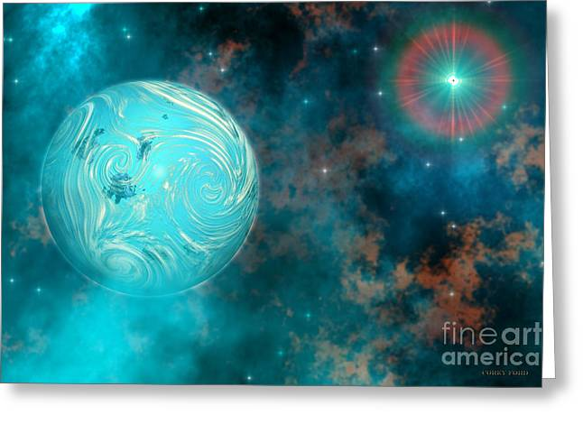 Coalescence Greeting Card by Corey Ford
