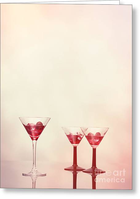 Cocktails At The Bar Greeting Card by Amanda Elwell