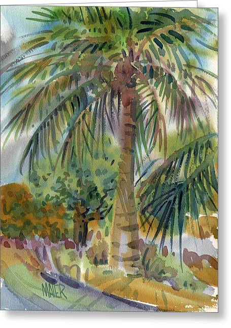 Coconut Greeting Cards - Coconut Palm Greeting Card by Donald Maier