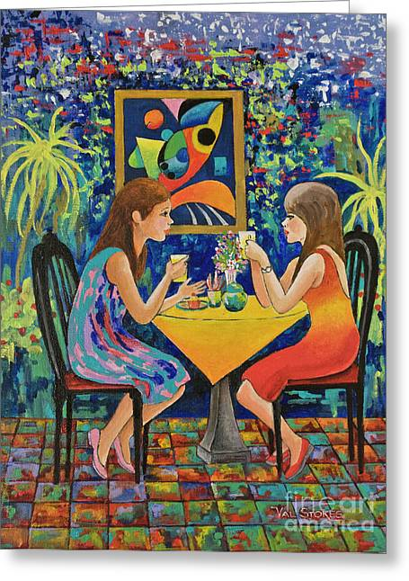 Best Sellers -  - Coffee Drinking Greeting Cards - Coffee Culture Greeting Card by Val Stokes