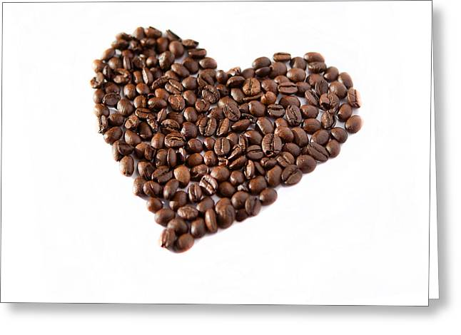 Coffee Heart Greeting Card by Linde Townsend