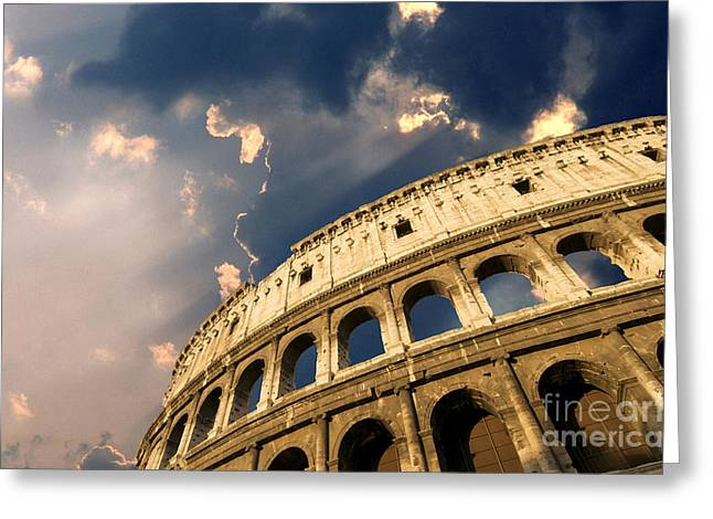 Southern Italy Greeting Cards - Coliseum. Rome. Lazio. Italy. Europe Greeting Card by Bernard Jaubert