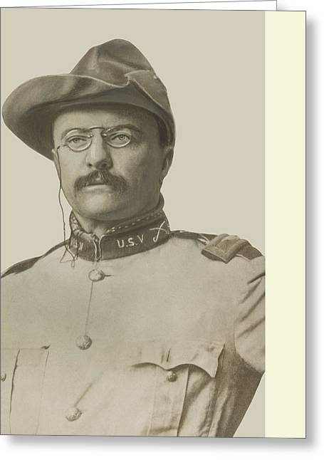 Juan Greeting Cards - Colonel Theodore Roosevelt Greeting Card by War Is Hell Store