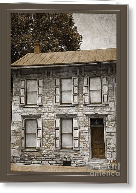 Tin Roof Greeting Cards - Colonial Facade Greeting Card by John Stephens