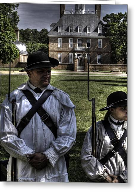 Colonial Actors Greeting Cards - Colonial Williamsburg  v8 Greeting Card by John Straton