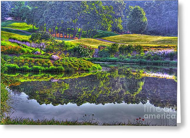 Reflections In River Greeting Cards - Color and Fog Greeting Card by Robert Pearson