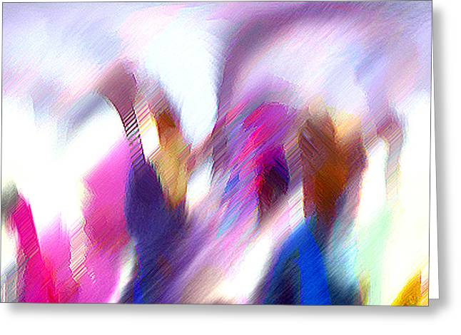 Digital Media Greeting Cards - Color Dance Greeting Card by Anil Nene