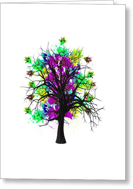 Tree Branches Greeting Cards - Color Tree Collection Greeting Card by Marvin Blaine