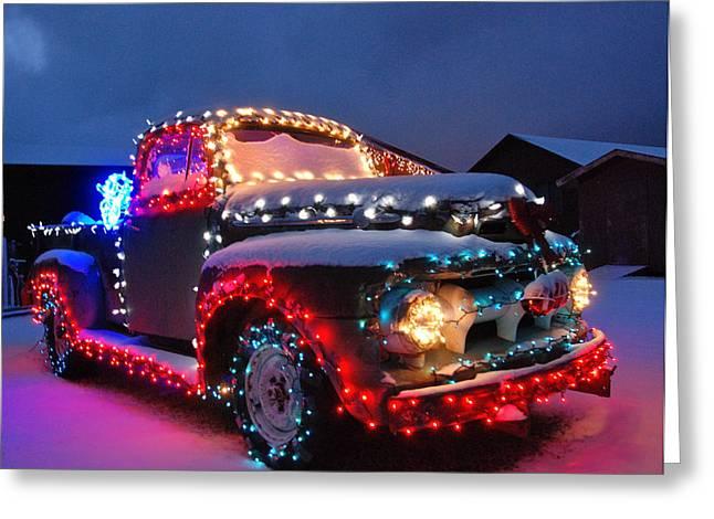 Bob Berwyn Greeting Cards - Colorado Christmas Truck Greeting Card by Bob Berwyn