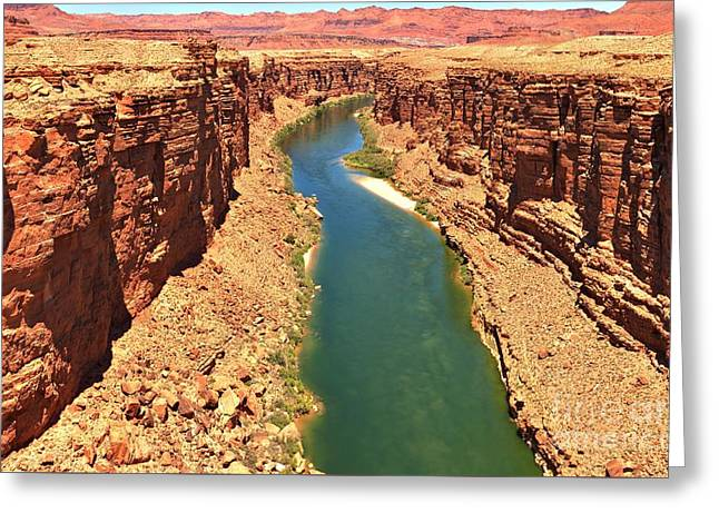 Cliff Lee Greeting Cards - Colorado River Canyon Greeting Card by Adam Jewell