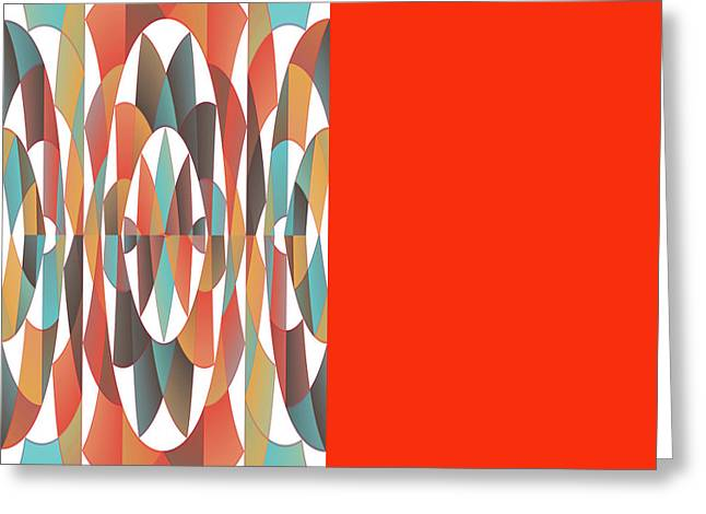 Colorful Geometric Abstract Greeting Card by Gaspar Avila