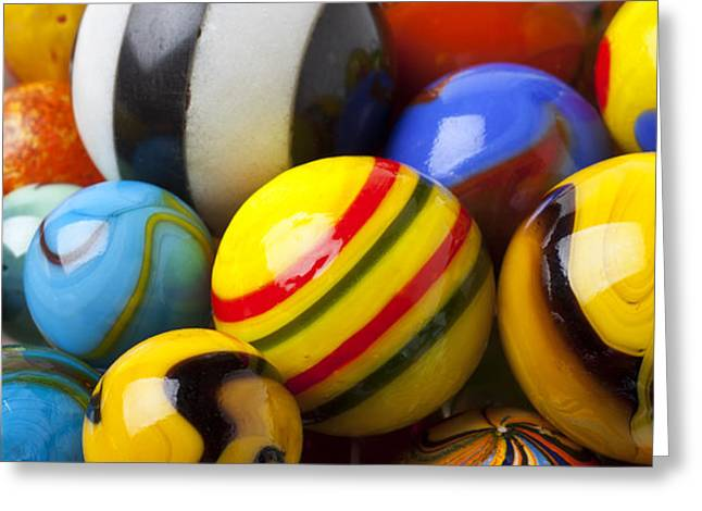 Colorful marbles Greeting Card by Garry Gay