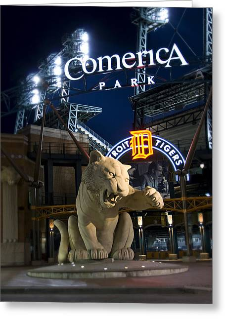 Comerica Park Home Of The Tigers Greeting Card by Richard Spitler
