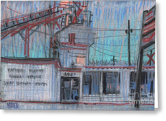 Repaired Pastels Greeting Cards - Commercial Industrial Greeting Card by Donald Maier