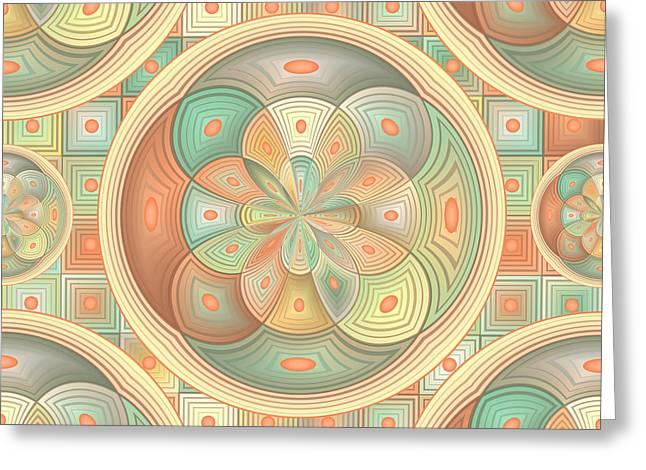 Complex Geometric Pattern Greeting Card by Gaspar Avila