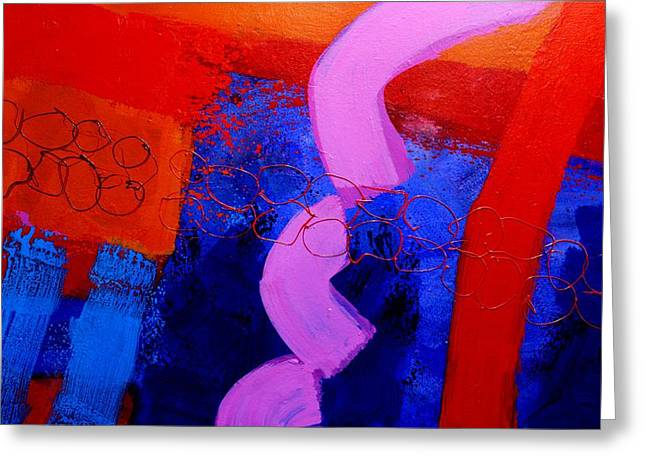 Abstract  Framed Prints Greeting Cards - Con Moto Greeting Card by John  Nolan