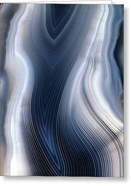 Agate Greeting Cards - Concentric Banding In Agate Greeting Card by Dirk Wiersma