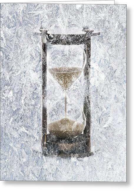 Analog Greeting Cards - Conceptual Illustration Of Frozen Time Greeting Card by George Mattei