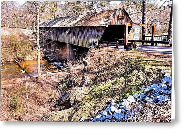 Concord. Historic Greeting Cards - Concord Covered Bridge Greeting Card by James Potts
