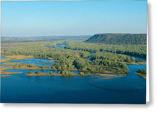 Wisconsin State Parks Greeting Cards - Confluence Of Mississippi And Wisconsin Greeting Card by Panoramic Images