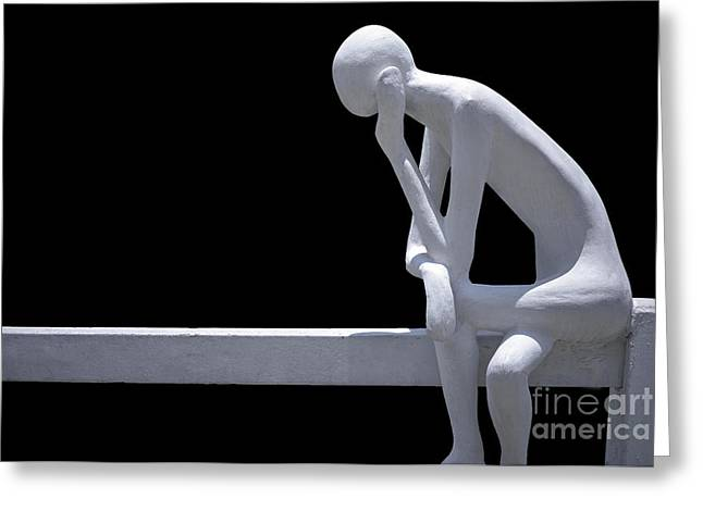 Pensive Greeting Cards - Contemplative  Greeting Card by Ray Evans