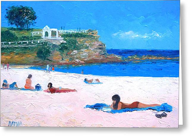 Beach Art Greeting Cards - Coogee Beach Greeting Card by Jan Matson