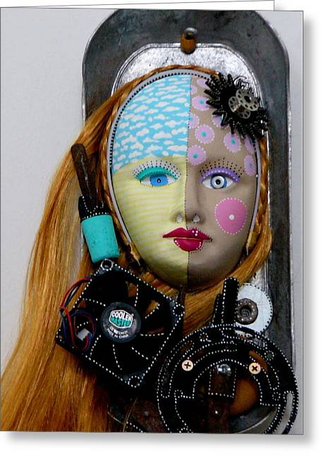 Antique Sculptures Greeting Cards - Cool And Level Headed Greeting Card by Keri Joy Colestock