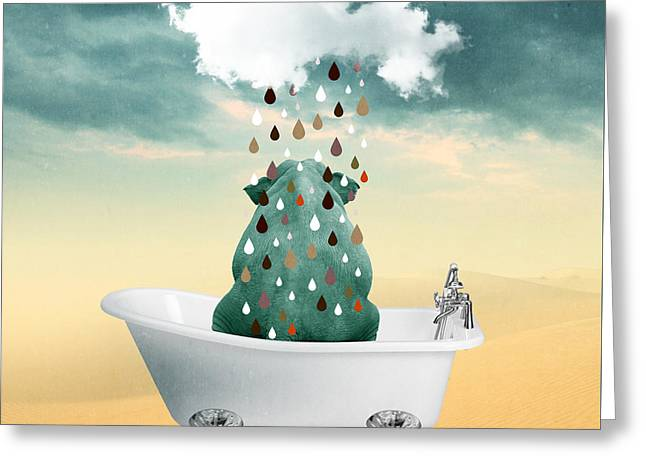 Shower Curtain Greeting Cards - Cool  Greeting Card by Mark Ashkenazi