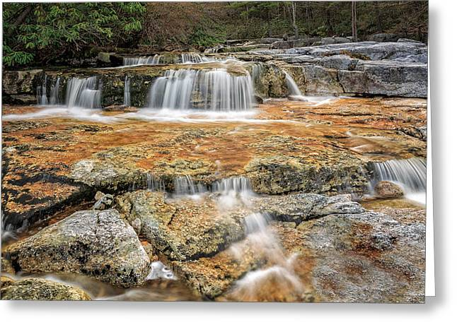 Ethereal Waterfalls Greeting Cards - Cool Mountain Stream Greeting Card by Bill Wakeley