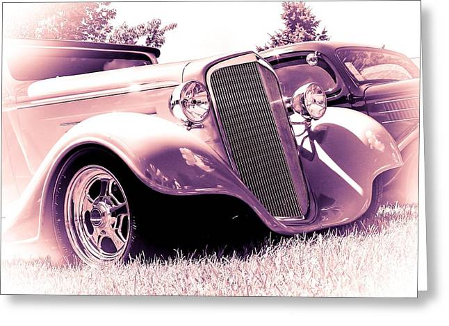Hot Rod Photography Greeting Cards - Cool Ride Greeting Card by Perry Webster