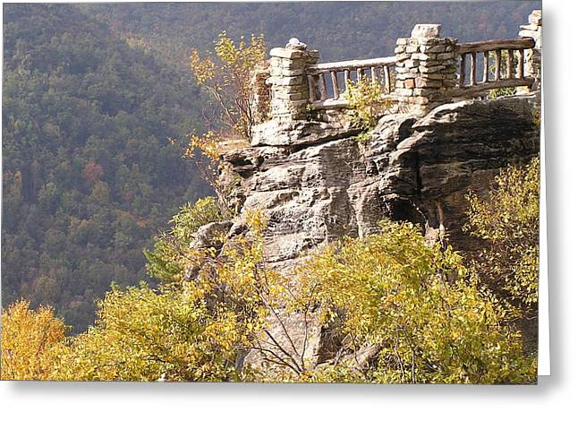 Mark Lehar Greeting Cards - Coopers Rock Overlook Greeting Card by Mark Lehar