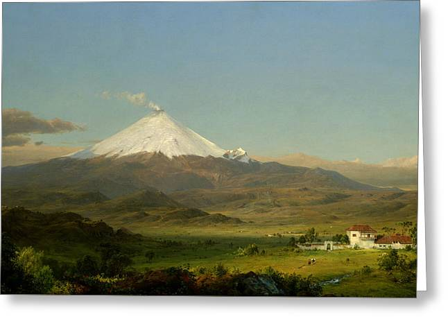 Cotopaxi Greeting Card by Frederic Edwin Church