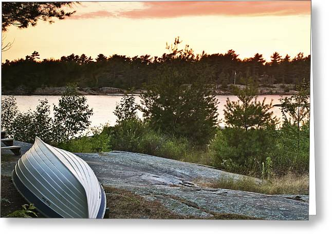 Canoe Photographs Greeting Cards - Cottage Life Greeting Card by Phill  Doherty
