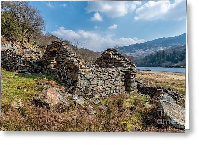 Dilapidated Digital Art Greeting Cards - Cottage Ruin Greeting Card by Adrian Evans