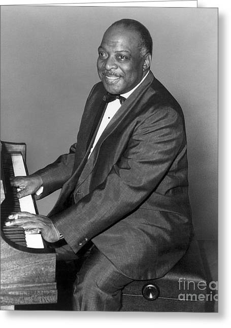20th Greeting Cards - Count Basie (1904-1984) Greeting Card by Granger