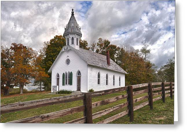 Country Church Greeting Cards - Country Church Greeting Card by Brian Mollenkopf