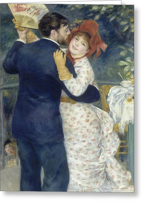 Renoir Greeting Cards - Country Dance Greeting Card by Auguste Renoir