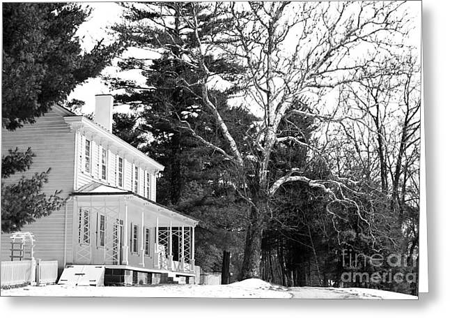 Old School House Greeting Cards - Country House Greeting Card by John Rizzuto