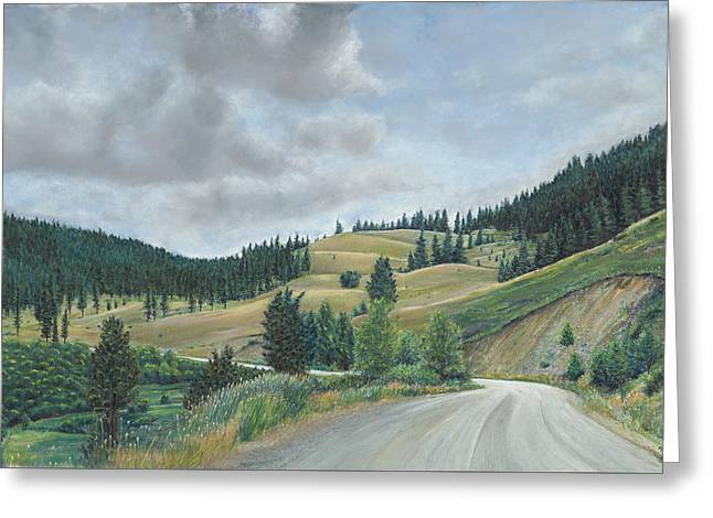 Birdseye Paintings Greeting Cards - Country Road Greeting Card by Nick Payne