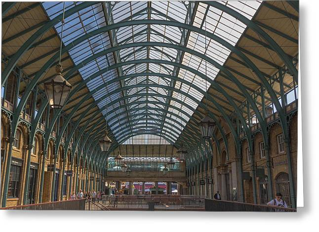 Shopper Greeting Cards - Covent Garden Market Greeting Card by Chris Fletcher