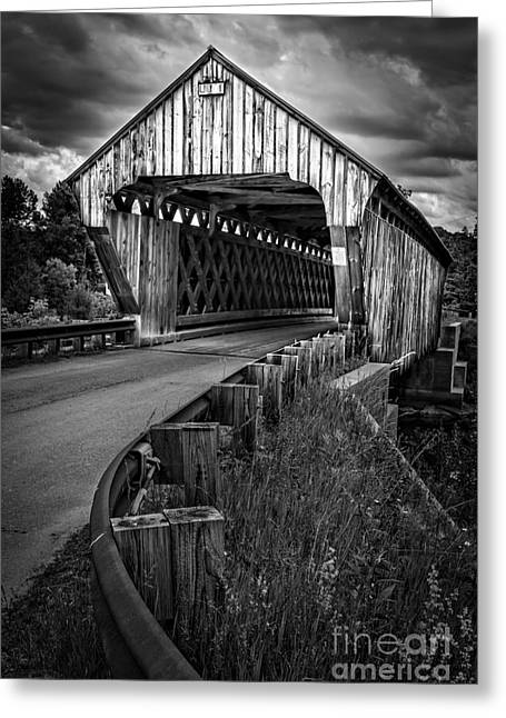 Covered Bridge Greeting Cards - Covered Bridge Greeting Card by Edward Fielding