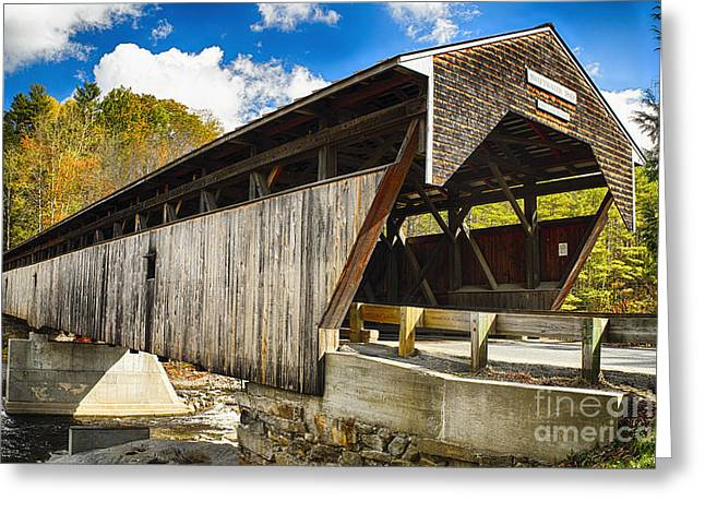 Covered Bridge Of Bath Greeting Card by George Oze