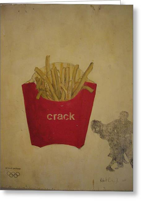 French Fries Greeting Cards - Crack Greeting Card by Robert Cunningham