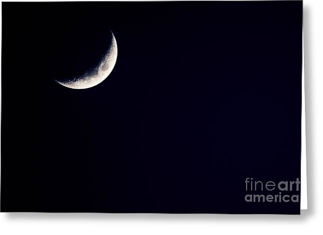 Cut-outs Greeting Cards - Crescent Moon  Greeting Card by Thomas R Fletcher